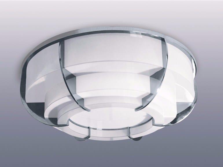 Plafoniera a luce diretta in vetro 355 | Plafoniera by Jean Perzel