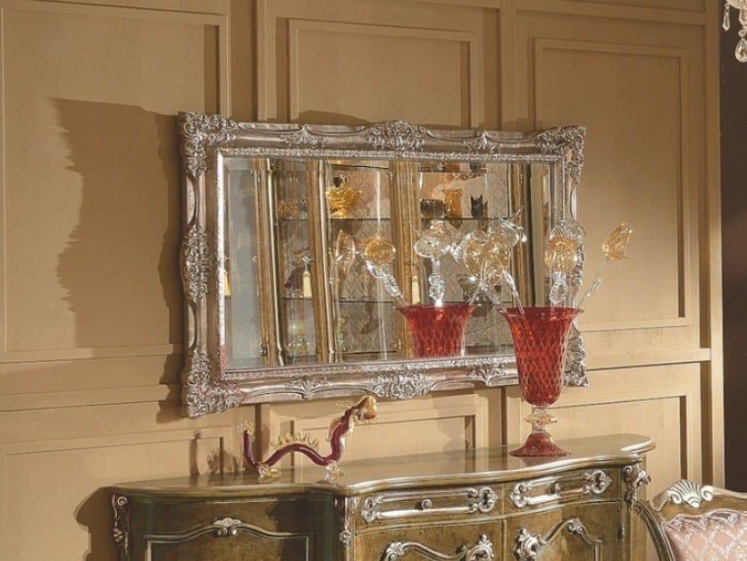 Specchio rettangolare foglia argento con cornice da parete 35TH ANNIVERSARY 2170 by SCAPPINI & C