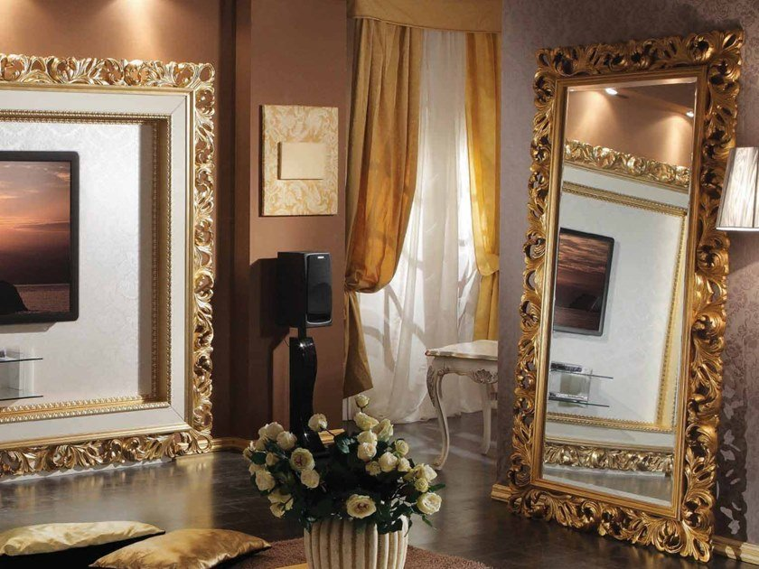 Freestanding rectangular framed mirror 35TH ANNIVERSARY 2207 by SCAPPINI & C