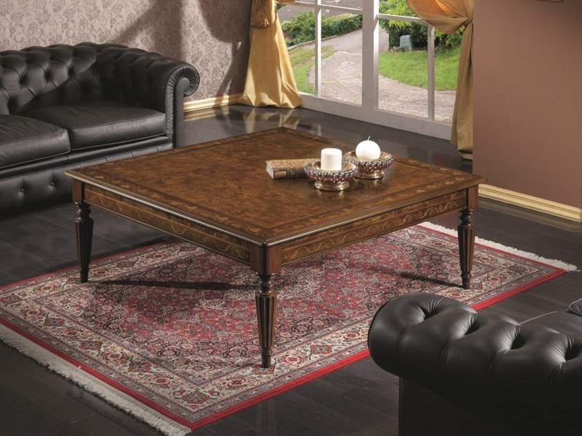 Square Wooden High Side Table For, Square Living Room Table