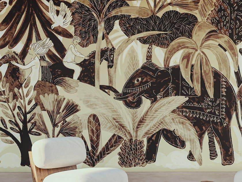 Carta da parati panoramica tropicale in tessuto non tessuto 360° - BEL AMI by Élitis