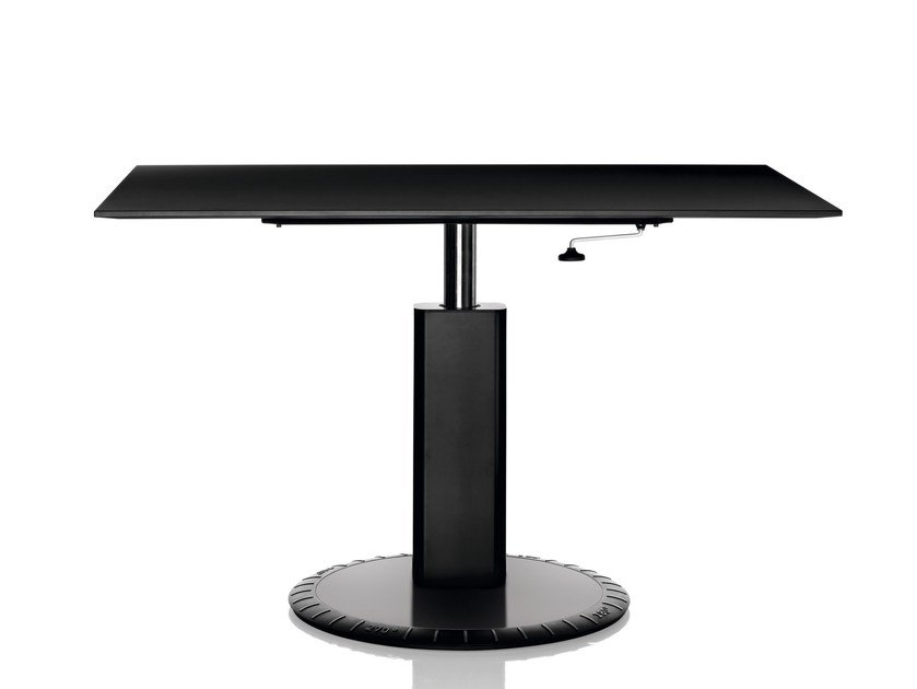 Height-adjustable rectangular table 360° | Height-adjustable table by Magis