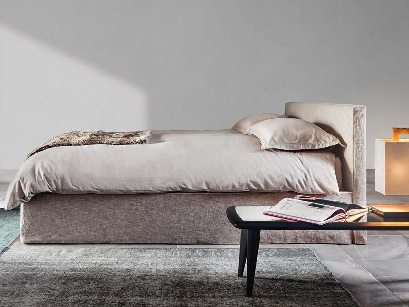 Storage bed double bed with removable cover 3600 TANGRAM by Vibieffe