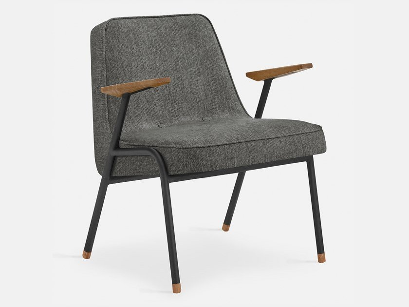 Fabric easy chair with armrests 366 METAL | Easy chair by 366 Concept s.c.