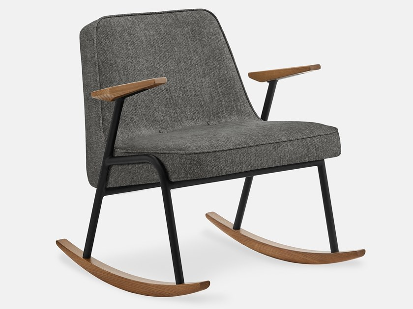 Rocking fabric easy chair with armrests 366 METAL LOFT | Rocking easy chair by 366 Concept s.c.