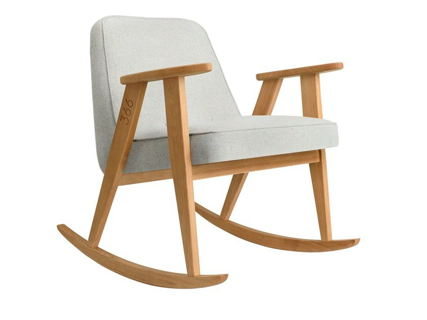 Rocking wool easy chair 366 WOOL | Rocking easy chair by 366 Concept s.c.