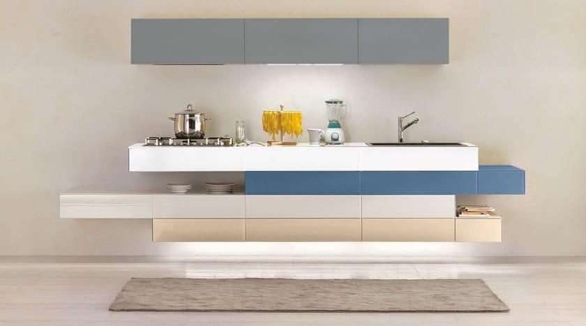 Cucina Componibile Laccata : E cucina lineare by lago design daniele