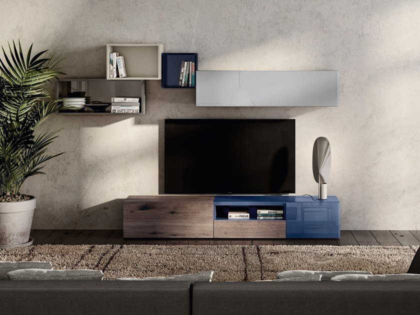 Low TV cabinet 36E8 WILDWOOD | TV cabinet by Lago