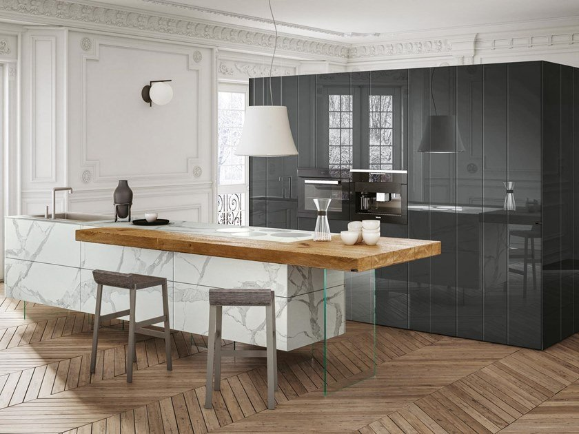 36E8 MARBLE XGLASS | Cucina con isola Collezione 36e8 By ...