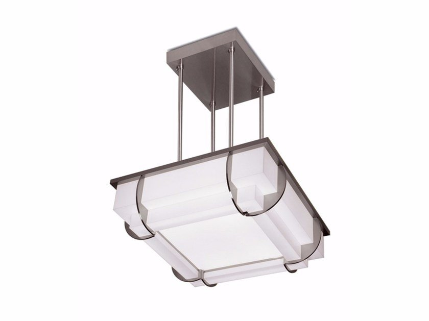 Direct light glass pendant lamp 373 S | Pendant lamp by Jean Perzel