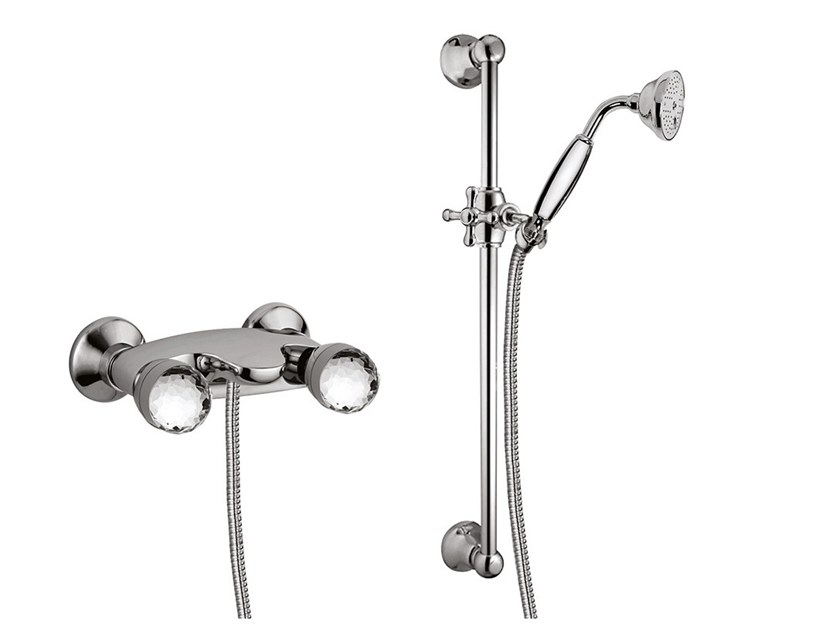 4 hole shower tap with hand shower PERSIA CRYSTAL - PERSIA - F3807WS/S by Rubinetteria Giulini
