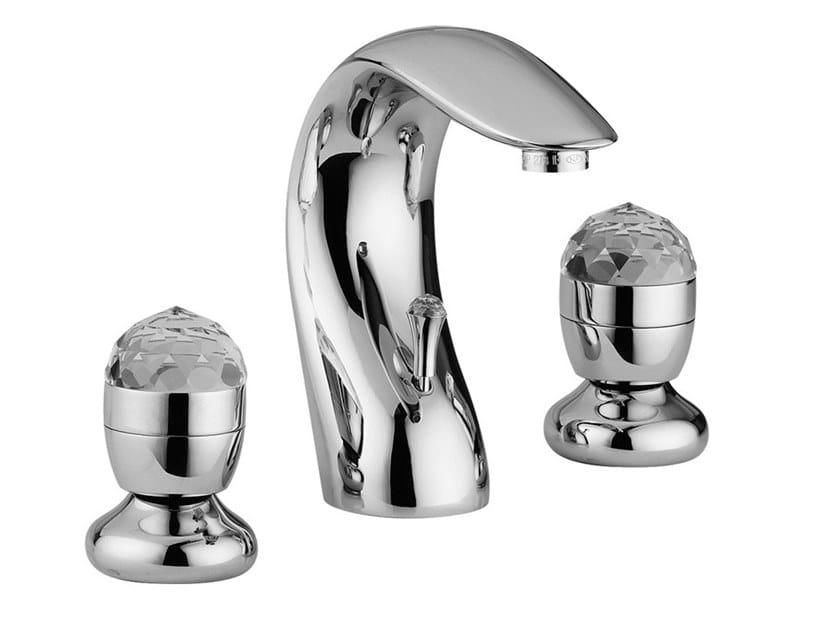 3 hole countertop washbasin tap PERSIA CRYSTAL - PERSIA - F3812A/S by Rubinetteria Giulini
