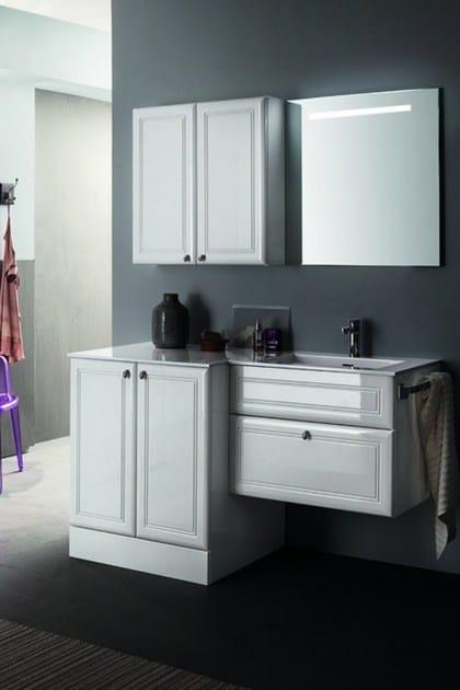Single vanity unit with mirror 39 by RAB Arredobagno