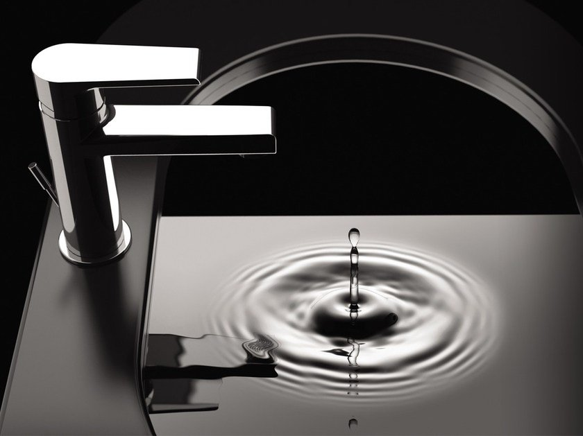 Countertop washbasin mixer with aerator ARTIC 393-AT | Washbasin mixer by Rubinetterie Mariani