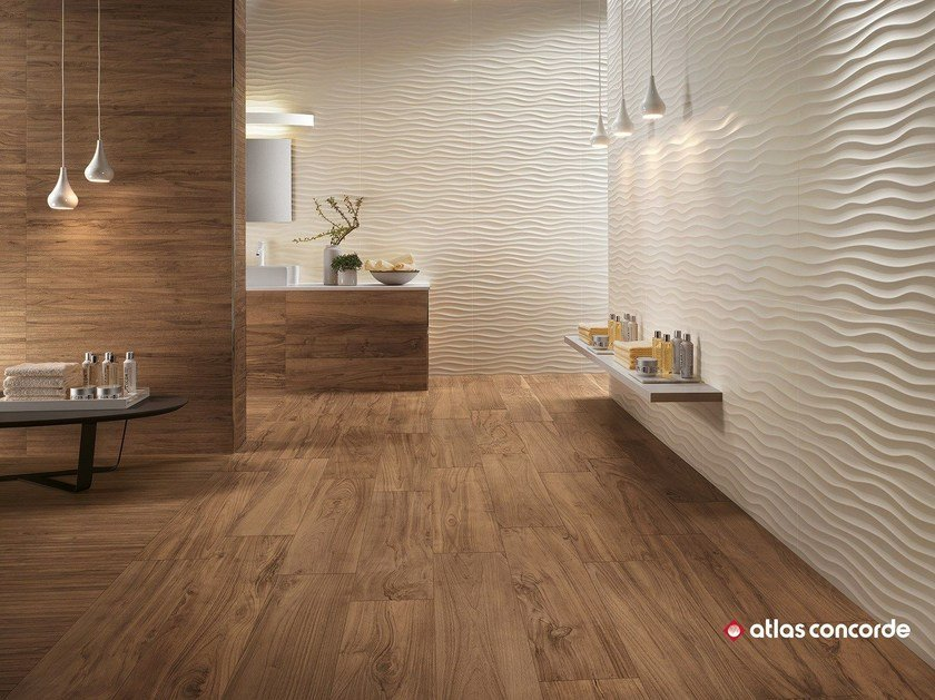 White-paste 3D Wall Cladding 3D WALL DESIGN DUNE by Atlas Concorde
