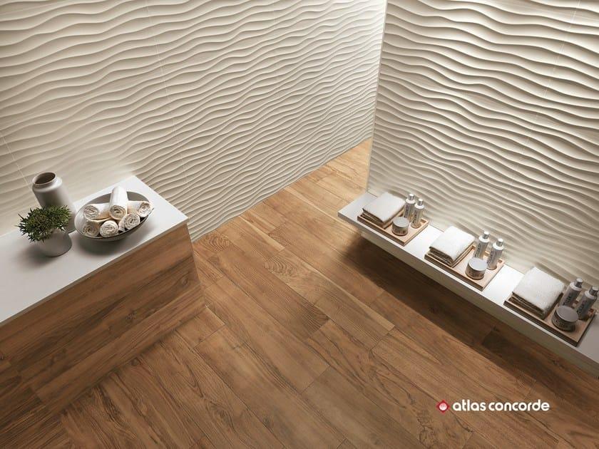 Rivestimento tridimensionale in ceramica a pasta bianca 3d wall