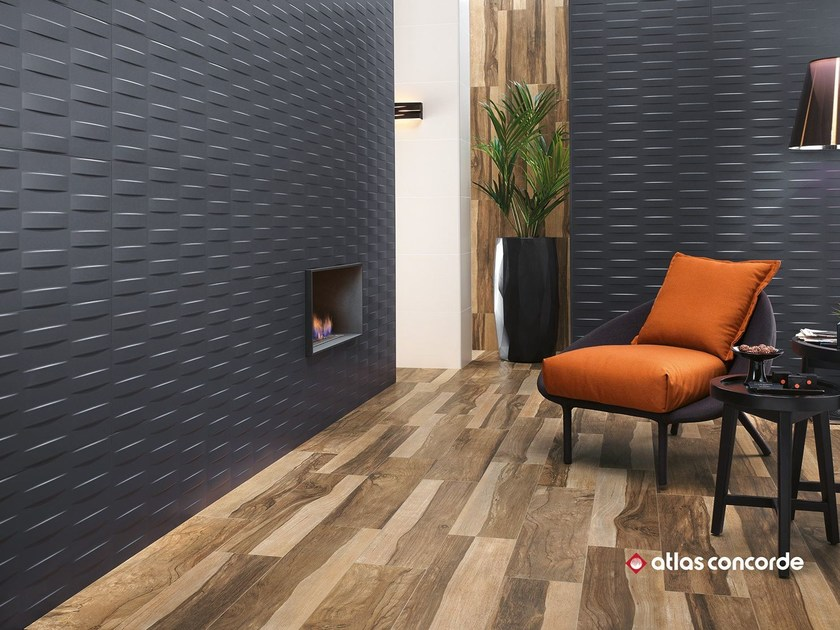 White-paste 3D Wall Cladding 3D WALL DESIGN GRID by Atlas Concorde