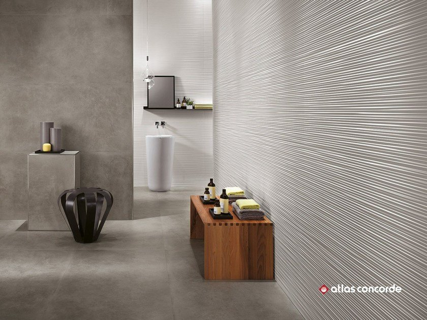 White-paste 3D Wall Cladding 3D WALL DESIGN LINE by Atlas Concorde