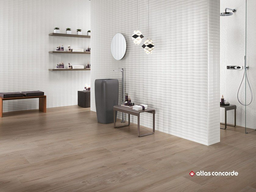 White-paste 3D Wall Cladding 3D WALL DESIGN PLOT by Atlas Concorde