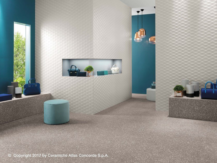 White-paste 3D Wall Cladding 3D WALL DESIGN STARS by Atlas Concorde