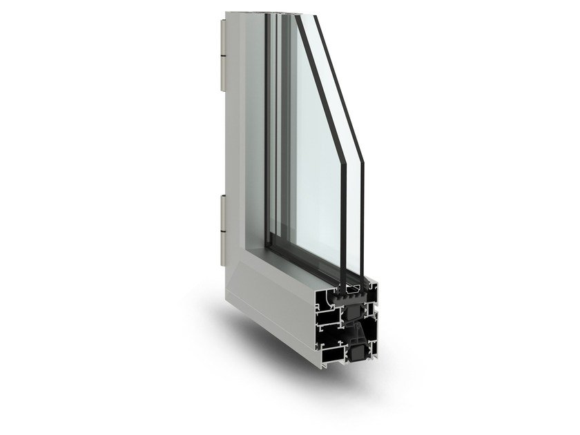 Aluminium thermal break window 3G by ALsistem