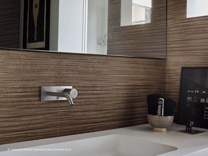 Full-body porcelain stoneware 3D Wall Cladding with wood effect ARBOR | Wall tiles by Atlas Concorde