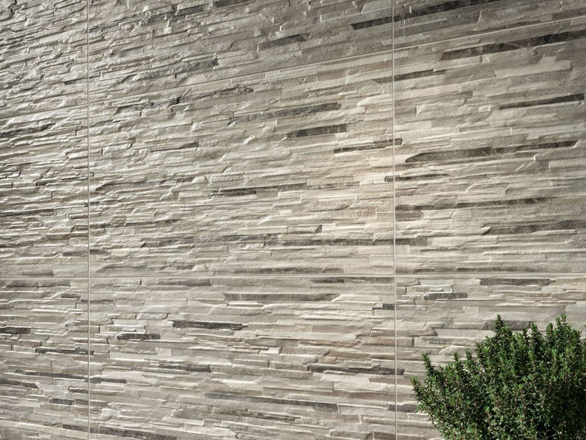 Porcelain stoneware 3D Wall Cladding with stone effect BITS&PIECES | 3D Wall Cladding with stone effect by Ceramiche Piemme