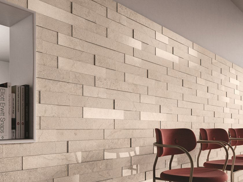 Porcelain stoneware 3D Wall Cladding with stone effect STONE CONCEPT | 3D Wall Cladding with stone effect by Ceramiche Piemme