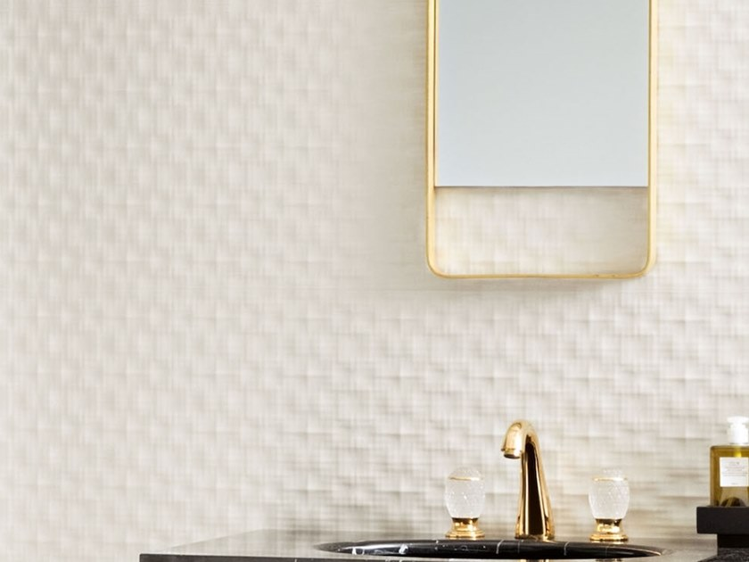 Single-fired ceramic 3D Wall Cladding with textile effect INCIPIT   3D Wall Cladding with textile effect by Valentino by Ceramiche Piemme