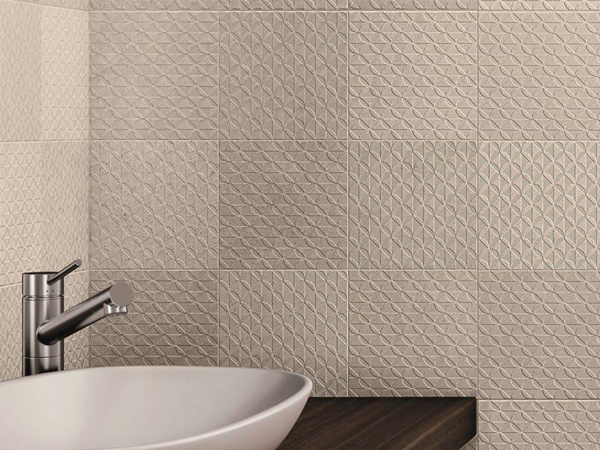 Porcelain stoneware 3D Wall Tile with stone effect FREEDOM   3D Wall Tile with stone effect by Ceramiche Piemme