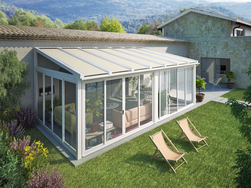 Glass and aluminium conservatory 3FACILE | Conservatory by Giulio Barbieri