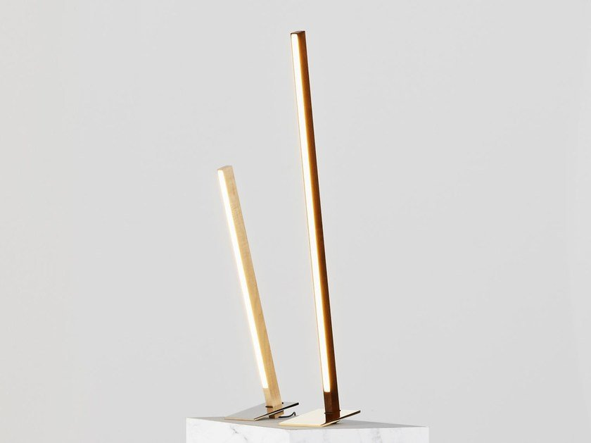 LED Wooden Table Lamp 3ft TABLE TORCH By Stickbulb
