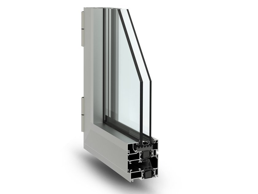 Aluminium casement window 3G by Fresia Alluminio