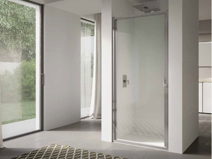 Niche glass shower cabin with hinged door 4.0 - QT1P by DISENIA