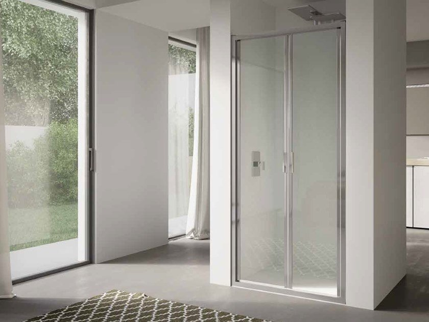 Niche glass shower cabin with hinged door 4.0 - QT2P by DISENIA