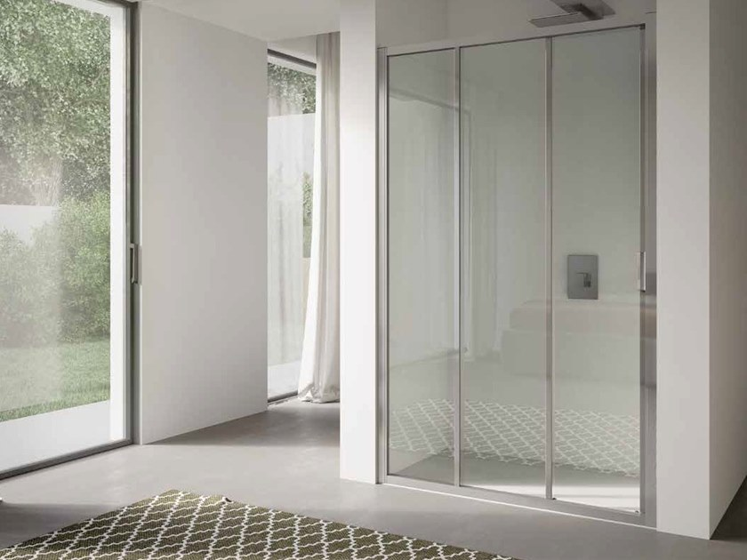 Niche glass shower cabin with sliding door 4.0 - QTS2N by DISENIA
