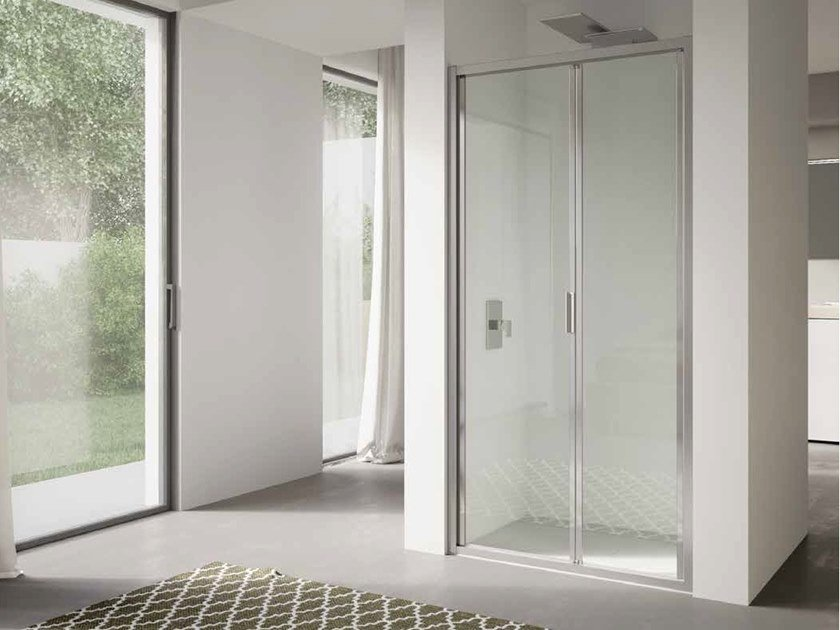 Niche glass shower cabin with folding door 4.0 - QTSF by DISENIA