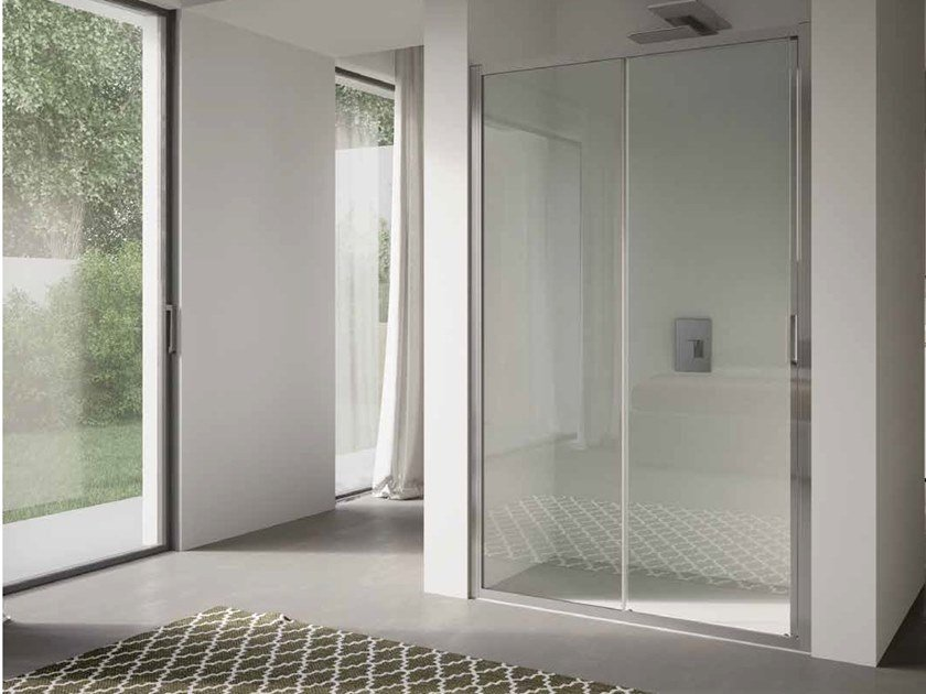 Niche glass shower cabin with sliding door 4.0 - QTSN by DISENIA
