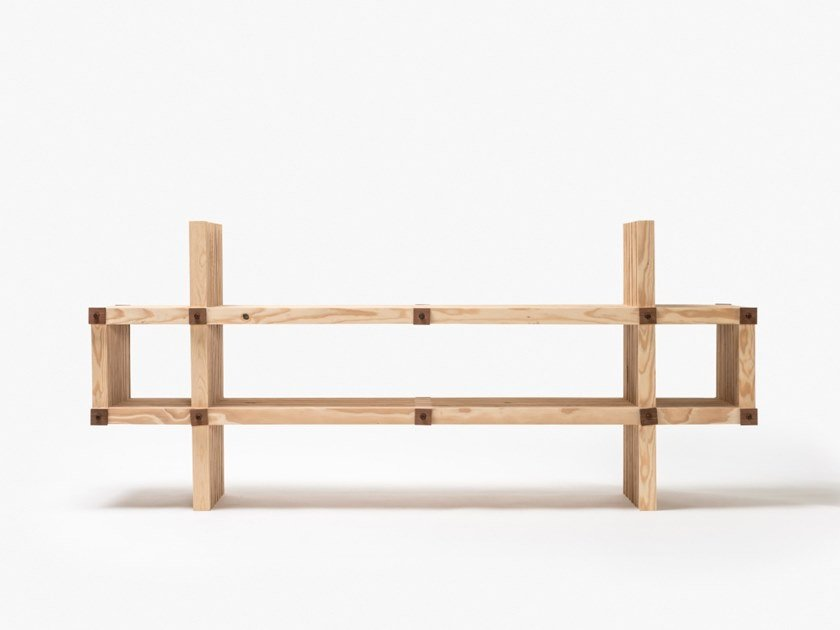 Mobile TV basso in legno #4 | Mobile TV by Linie by Cabana