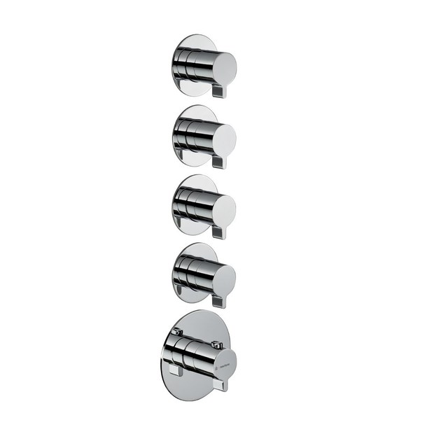 Thermostatic thermostatic shower mixer 4-WAY OUT THERMOSTATIC SELECTORS | Thermostatic shower mixer by newform