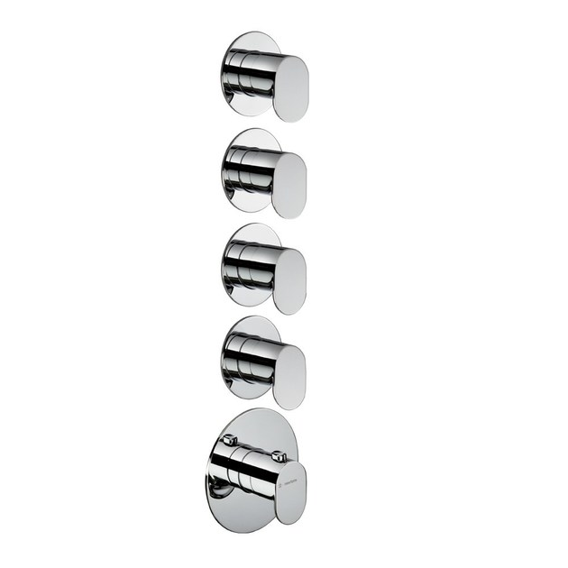 Thermostatic thermostatic shower mixer 4-WAY OUT THERMOSTATIC SELECTORS   Thermostatic shower mixer by newform