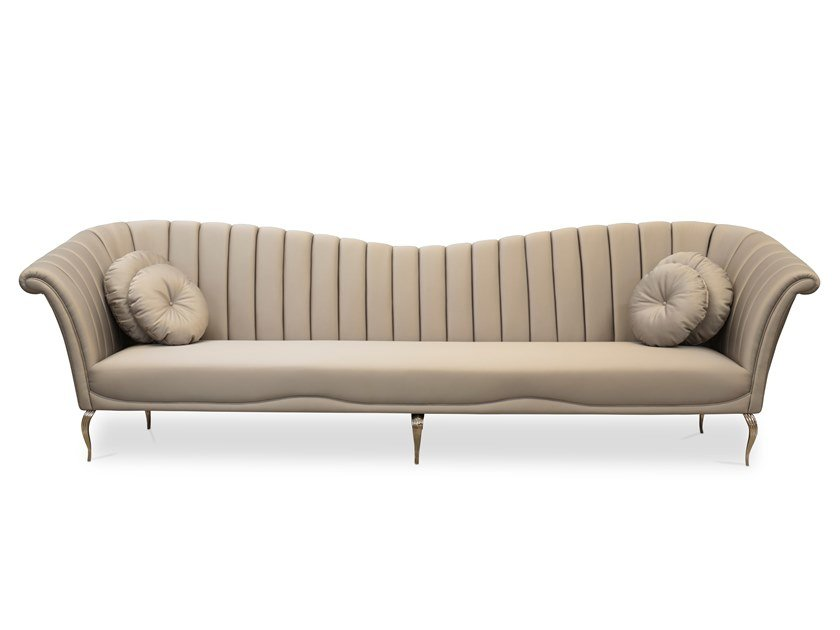 4 seater leather sofa CAPRICHOSA | 4 seater sofa by KOKET