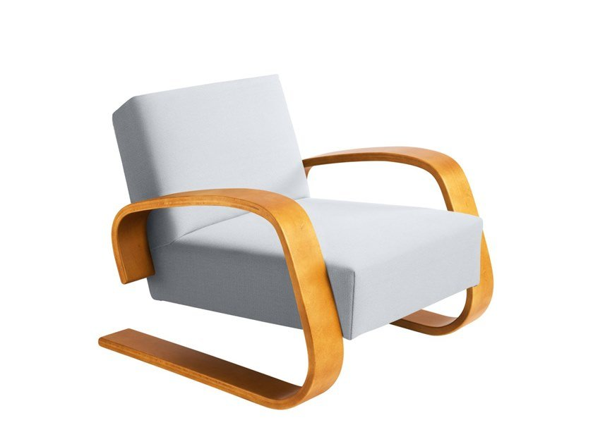 """Cantilever wooden armchair with armrests 400 """"TANK"""" by Artek"""