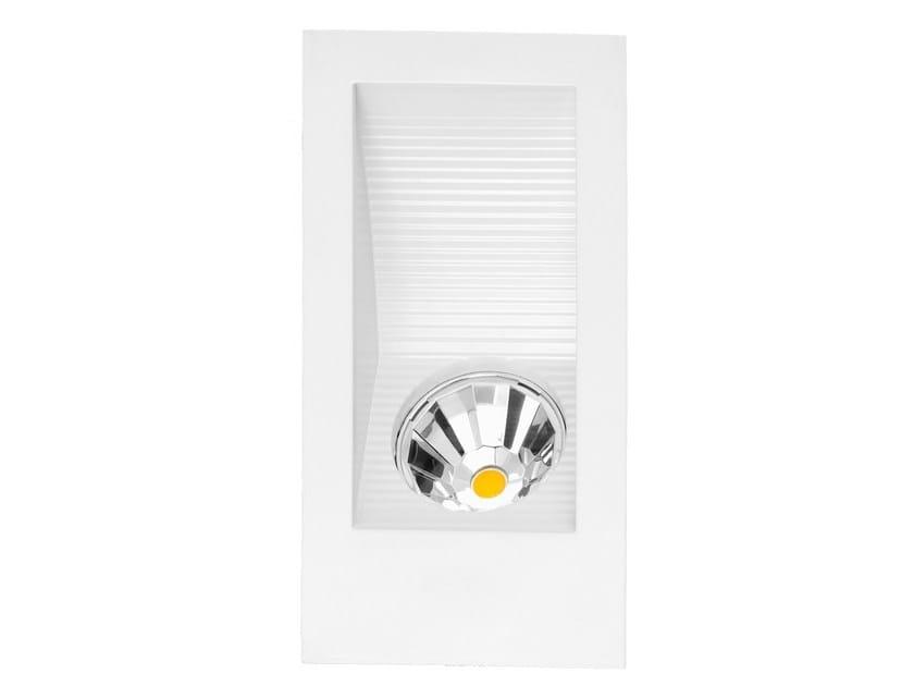 Wall-mounted aluminium steplight 400 by ONOK Lighting