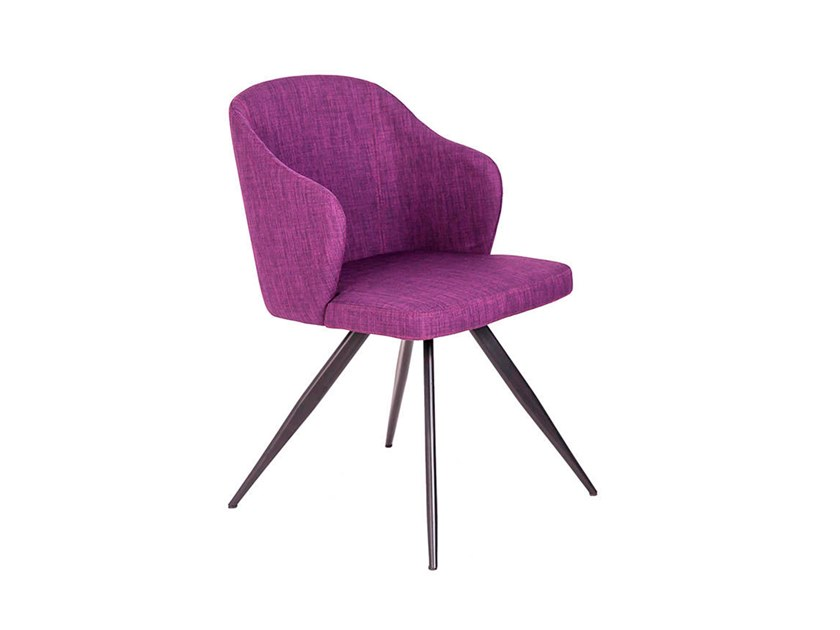 Fabric chair with armrests 4033 by Angel Cerdá