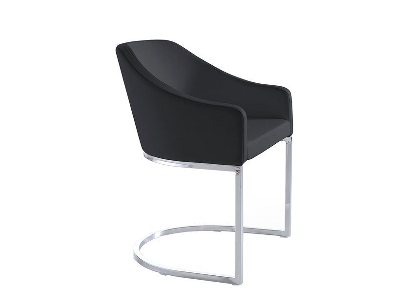 Cantilever fabric chair with armrests 4046 by Angel Cerdá