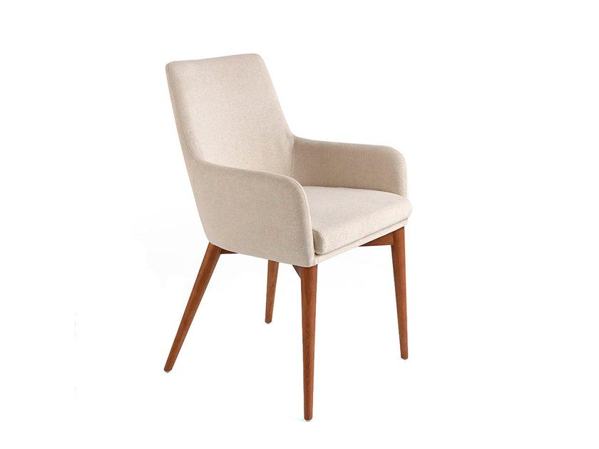 Fabric chair with armrests 4048 by Angel Cerdá