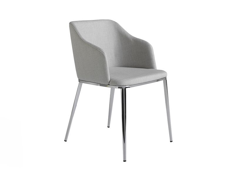 Fabric chair with armrests 4050 by Angel Cerdá