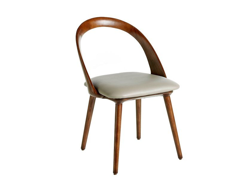 Wooden chair with integrated cushion 4063 by Angel Cerdá