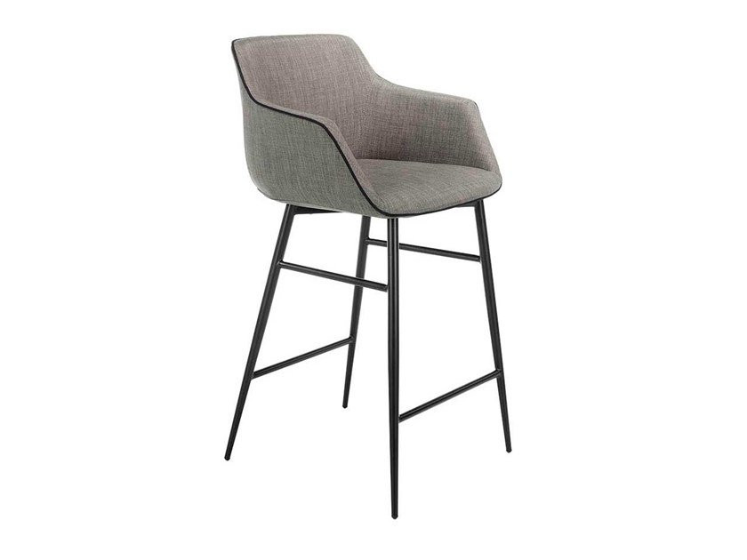 Fabric stool with armrests 4089   Stool by Angel Cerdá